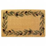 "Heavy Duty Coir Mat with Evergreen Border 30"" x 48"" NH-O2013"