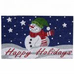 "SuperScraper Vinyl Coir Doormat with Happy Holidays 18"" x 30"" NH-33016"