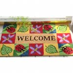"SuperScraper Vinyl Coir Doormat with Ladybug Welcome 18"" × 30"" NH-33012"