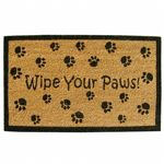 "SuperScraper Vinyl Coir Doormat with Wipe Your Paws 18"" x 30"" NH-33014"