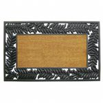 "Wrought Iron Rubber Coir Mat with Olive Border 30"" × 48"" NH-5524202"