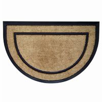 "Coir Doormat with Black Rubber Frame 24"" × 36"" Half Round NH-18100"