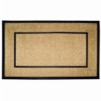 "Coir Doormat with Black Rubber Frame 30"" × 48"" NH-18102"