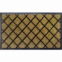 "Dirtbuster Rubber Coir Mat 18"" × 30"" - Lattice NH-18050"