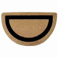 "Heavy Duty Coir Mat with Black Single Picture Frame Blue 22"" × 36"" Half Round NH-O2088"