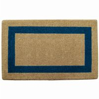 "Heavy Duty Coir Mat with Blue Single Picture Frame 22"" × 36"" NH-O2028"