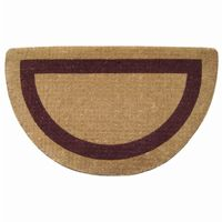 "Heavy Duty Coir Mat with Brown Single Picture Frame 22"" × 36"" Half Round NH-O2054"