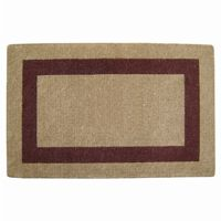 "Heavy Duty Coir Mat with Brown Single Picture Frame 30"" × 48"" NH-O2082"
