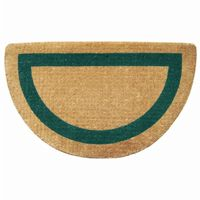 "Heavy Duty Coir Mat with Green Single Picture Frame 22"" × 36"" Half Round NH-O2056"