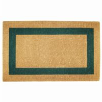 "Heavy Duty Coir Mat with Green Single Picture Frame 22"" × 36"" NH-O2025"