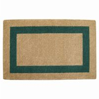 "Heavy Duty Coir Mat with Green Single Picture Frame 30"" × 48"" NH-O2085"