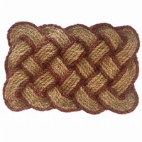 "Lovers Knot Mat Natural Brown 22"" × 36"" NH-12105"