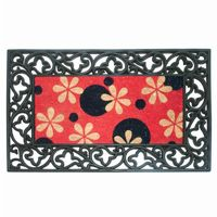 Rubber & Coir Rouleau Mat with Phlox Dots NH-18028