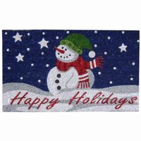 "SuperScraper Vinyl Coir Doormat with Happy Holidays 18"" × 30"" NH-33016"