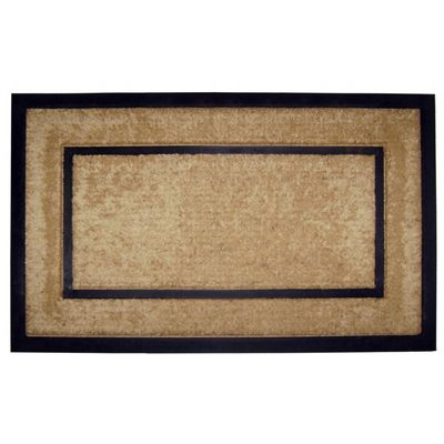 "Coir Doormat with Black Rubber Frame 22"" x 36"" NH-18098"