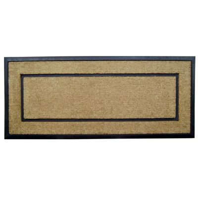 "Coir Doormat with Black Rubber Frame 24"" x 57"" NH-18105"