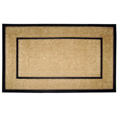 "Coir Doormat with Black Rubber Frame 30"" x 48"" NH-18102"