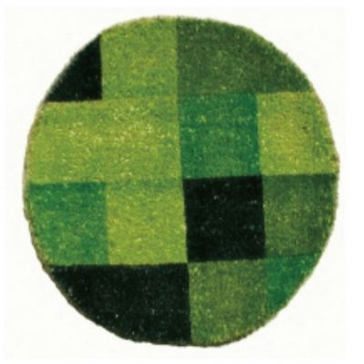 "Designer Coco Mat 24"" Round with Green Pixel Print NH-O2212"