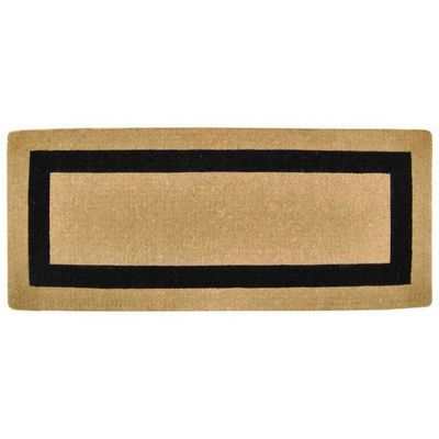 "Heavy Duty Coir Mat with Black Single Picture Frame 24"" x 57"" NH-O2070"