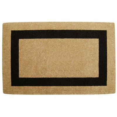 "Heavy Duty Coir Mat with Black Single Picture Frame 30"" x 48"" NH-O2079"