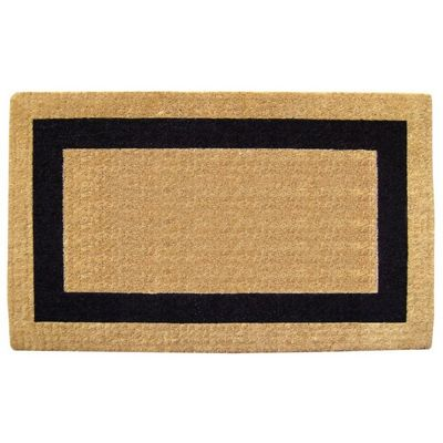 "Heavy Duty Coir Mat with Black Single Picture Frame 38"" x 60"" NH-O2031"