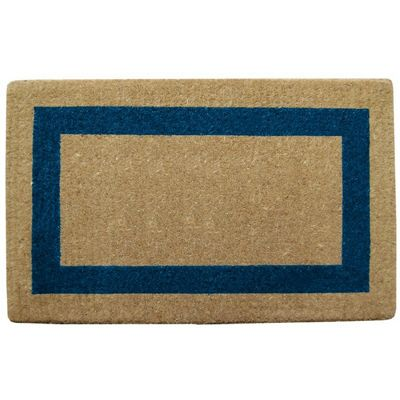 "Heavy Duty Coir Mat with Blue Single Picture Frame 38"" × 48"" NH-O2040"