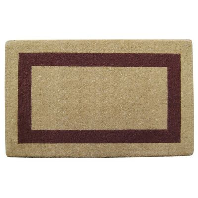 "Heavy Duty Coir Mat with Brown Single Picture Frame 22"" x 36"" NH-O2022"