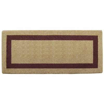 "Heavy Duty Coir Mat with Brown Single Picture Frame 24"" x 57"" NH-O2073"