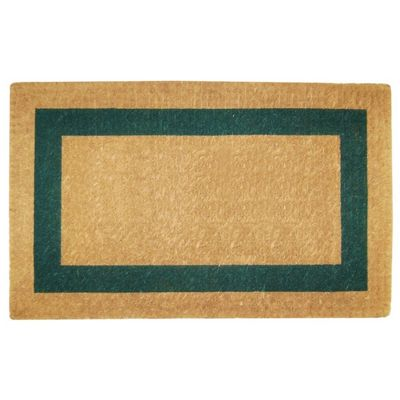 "Heavy Duty Coir Mat with Green Single Picture Frame 22"" x 36"" NH-O2025"