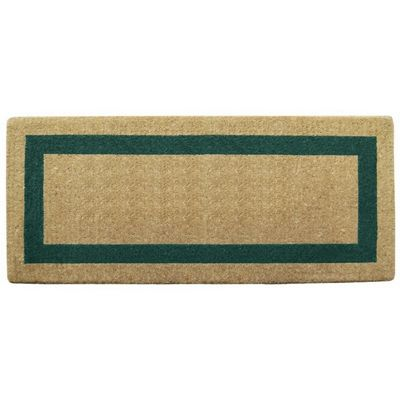 "Heavy Duty Coir Mat with Green Single Picture Frame 24"" x 57"" NH-O2076"