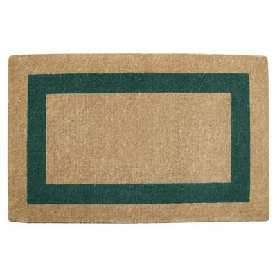 "Heavy Duty Coir Mat with Green Single Picture Frame 30"" x 48"" NH-O2085"