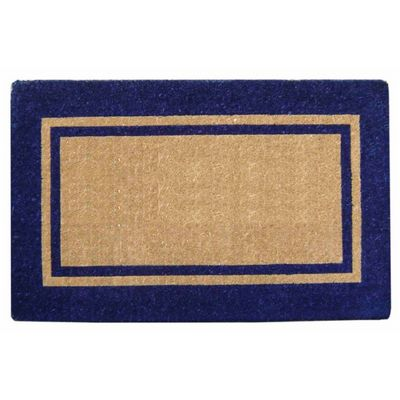 "Heavy Duty Coir Mat with Navy Blue Double Picture Frame 18"" x 30"" NH-O2219"
