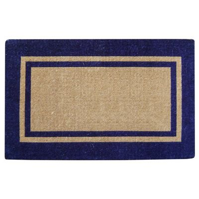 "Heavy Duty Coir Mat with Navy Blue Double Picture Frame 22"" x 36"" NH-O2222"