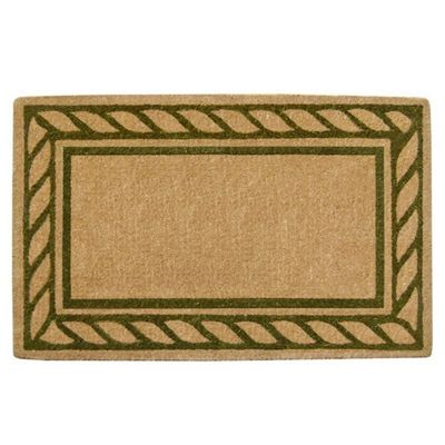 "Heavy Duty Coir Mat with Rope Border 22"" x 36"" NH-O2064"