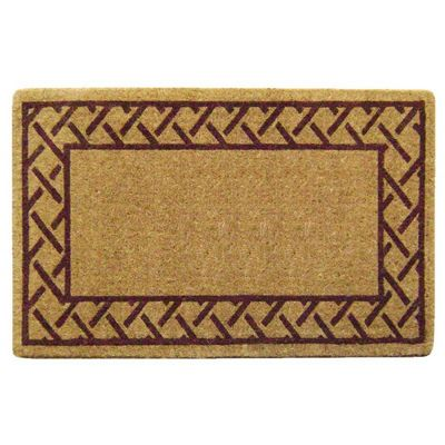 "Heavy Duty Coir Mat with Trellis Border 30"" x 48"" NH-O2104"