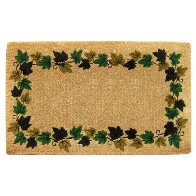"Heavy Duty Coir Mat with Vine Border 22"" x 36"" NH-O2004"