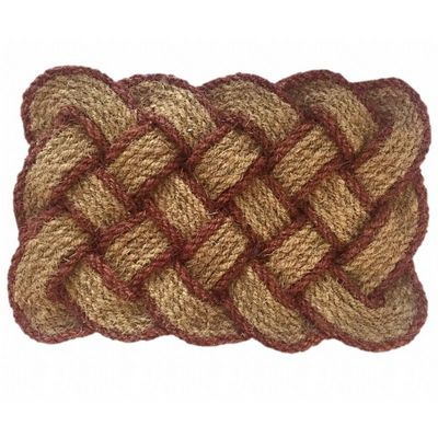 "Lovers Knot Mat Natural Brown 22"" x 36"" NH-12105"