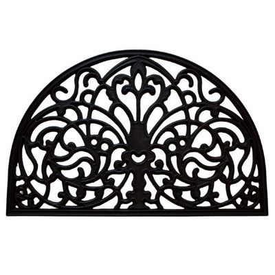 "Wrought Iron Rubber Mat Florentine 16"" x 24"" NH-20041"