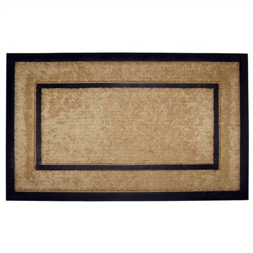 "Coir Doormat with Black Rubber Frame 22"" × 36"" NH-18098"