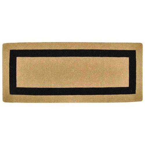 "Heavy Duty Coir Mat with Black Single Picture Frame 24"" × 57"" NH-O2070"