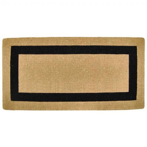 Heavy Duty Coir Mat With Black Single Picture Frame 36