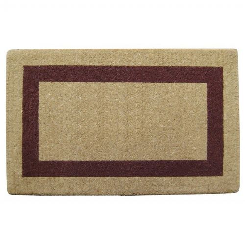 "Heavy Duty Coir Mat with Brown Single Picture Frame 22"" × 36"" NH-O2022"