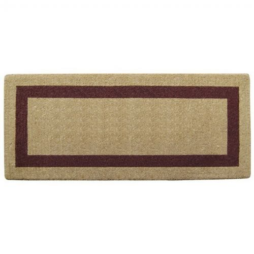 "Heavy Duty Coir Mat with Brown Single Picture Frame 24"" × 57"" NH-O2073"