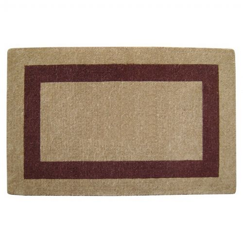 "Heavy Duty Coir Mat with Brown Single Picture Frame 38"" × 60"" NH-O2034"