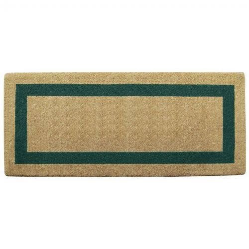 "Heavy Duty Coir Mat with Green Single Picture Frame 24"" × 57"" NH-O2076"