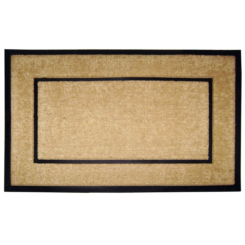 "Coir Doormat with Black Rubber Frame 30"" × 48"""
