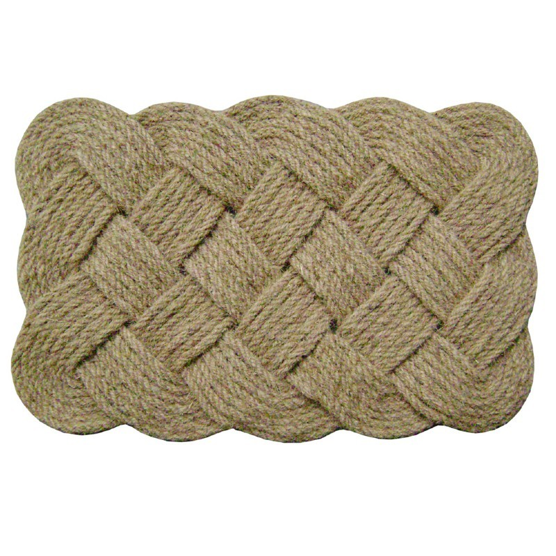 "Lovers Knot Mat Natural 22"" × 36"""