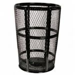 Witt Outdoor Expanded Metal Receptacle 48 Gal. Black Steel W-EXP-52BK