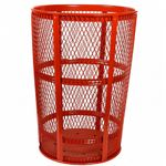 Witt Outdoor Expanded Metal Receptacle 48 Gal. Red Steel W-EXP-52RD