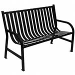 Witt Outdoor Full Bench Green Steel 4 Foot W-M4-BCH-BK